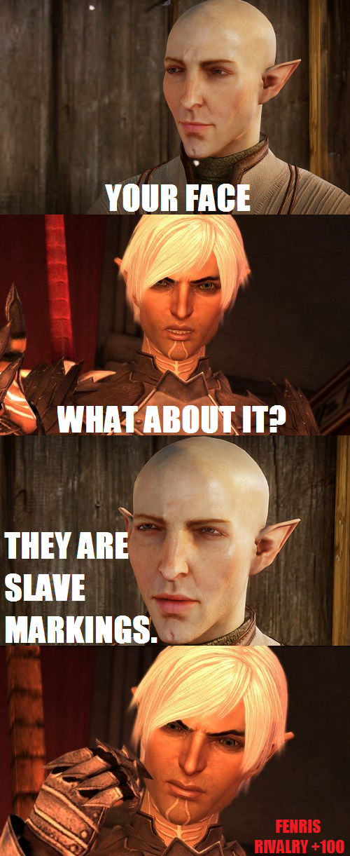 Somehow I Knew If Fenris Met Solas They Wouldn T Get Along Too
