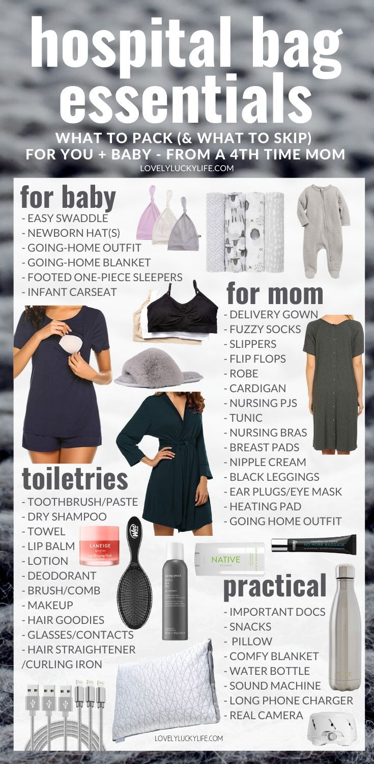 What You *Really* Need in Your Hospital Bag: What To Pack & What to Leave  at  Home from a Mom of 4