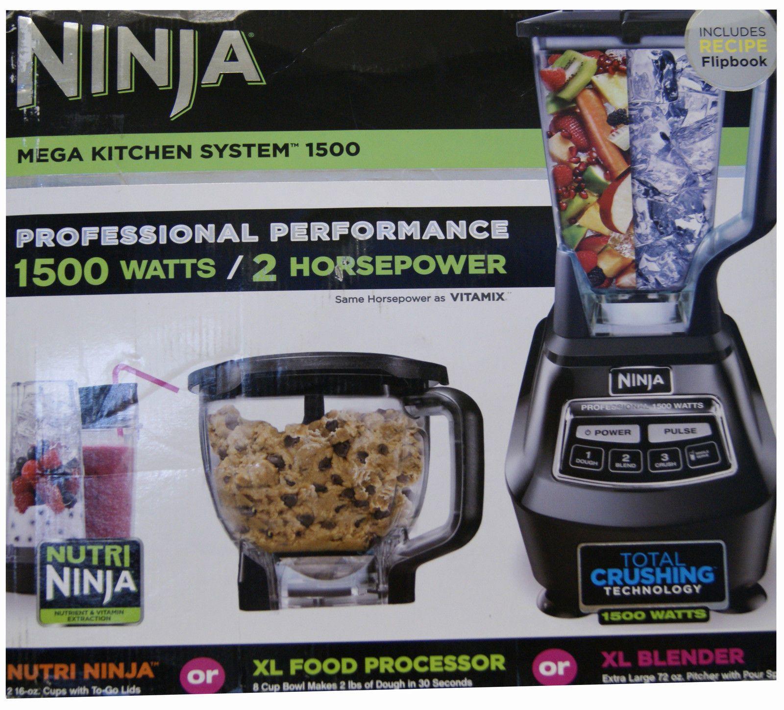 Ninja mega kitchen system 1500w 2hp food processor blender bl773co - Blenders Countertop 133704 Bl770 Ninja Mega Kitchen System 1500w Blender Nutri 2 Hp In