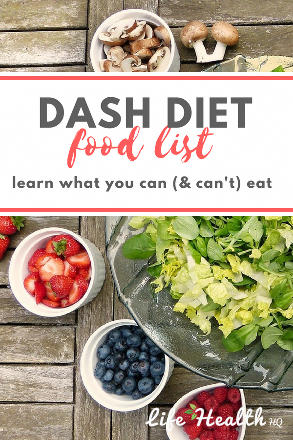 DASH Diet 101: Wondering what you can & can't eat on the DASH diet? We'll show you!