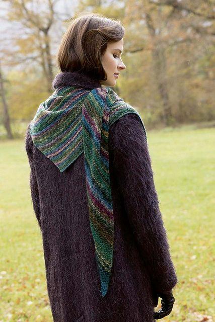 Lang Dipinto Triangular Shawl Knitting Pattern Pdf Shawl And Wrap