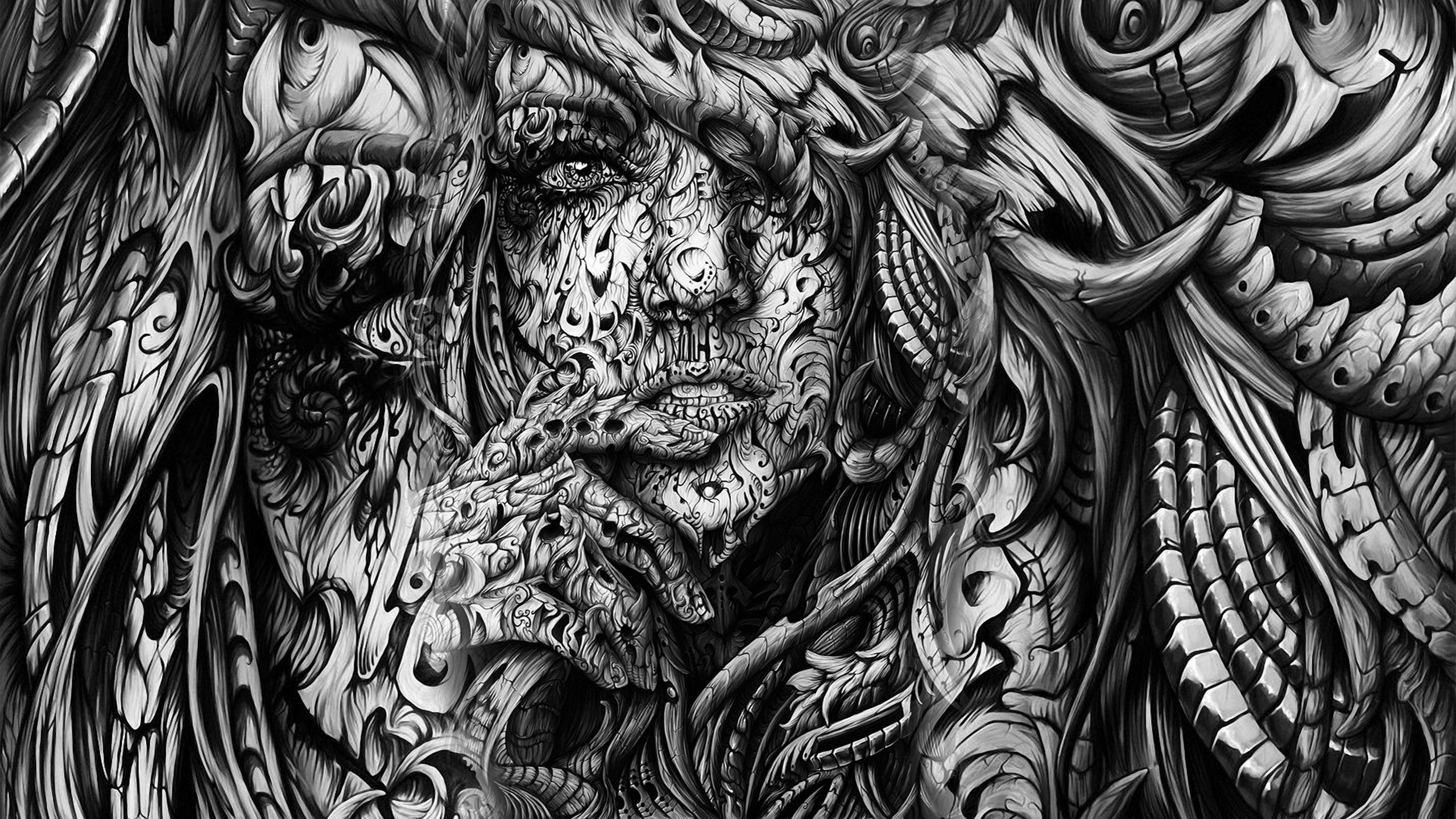 abstract-3d-black-n-white- | art and design | pinterest