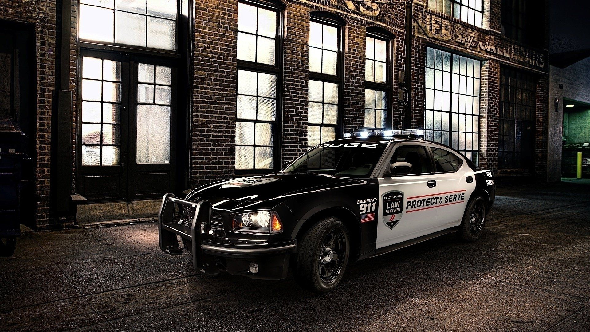 Lovely Police Dodge Charger At The Streets Of The Night City