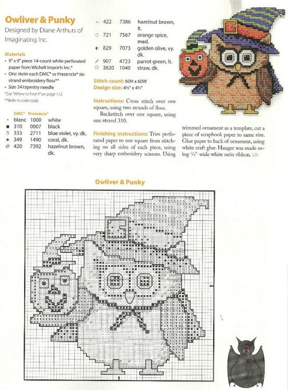 HALLOWEEN POINT CROSS | Learn Crafts is facilisimo.com | Plastic ...
