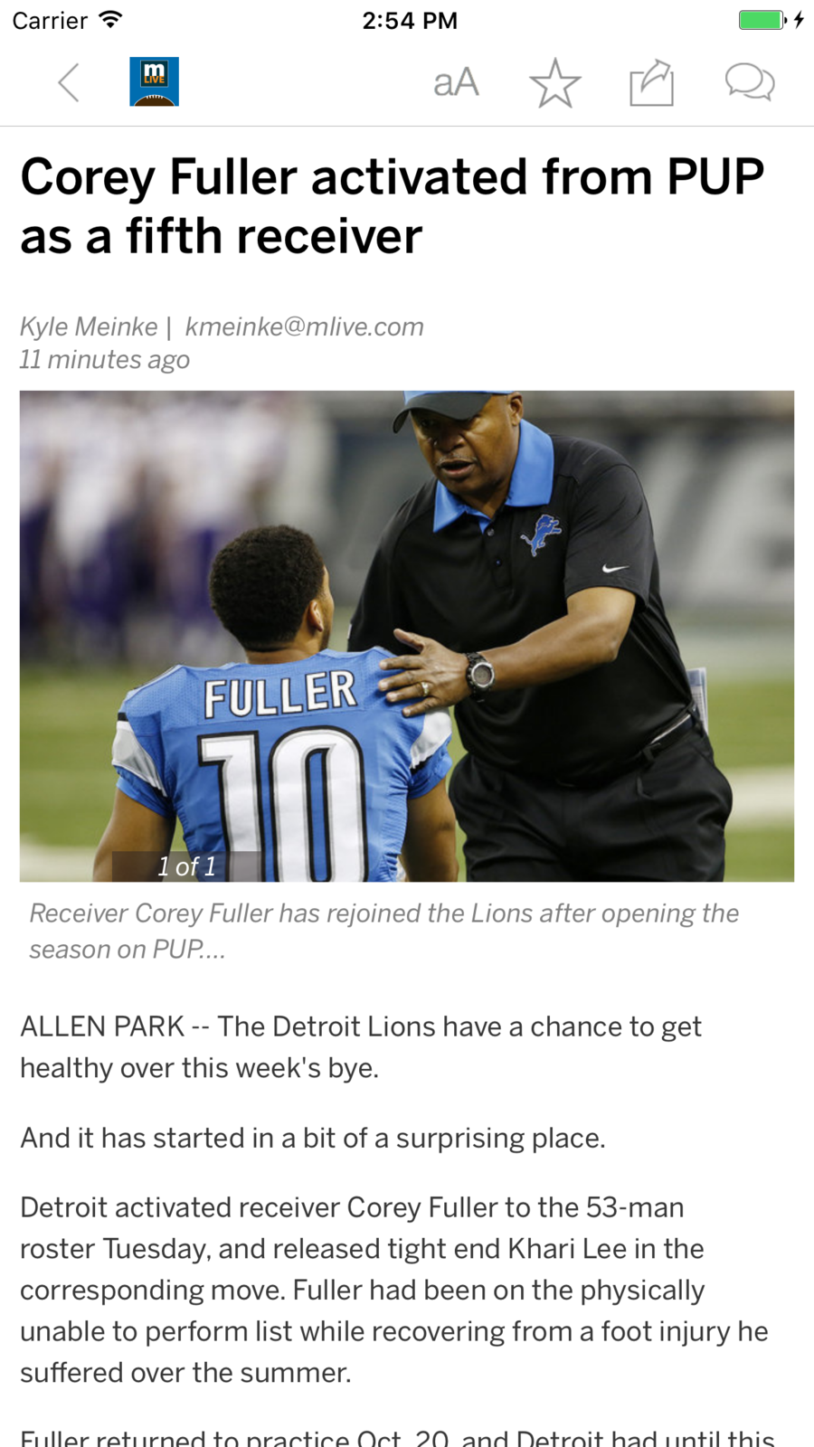 Detroit Lions News iosSportsappapps