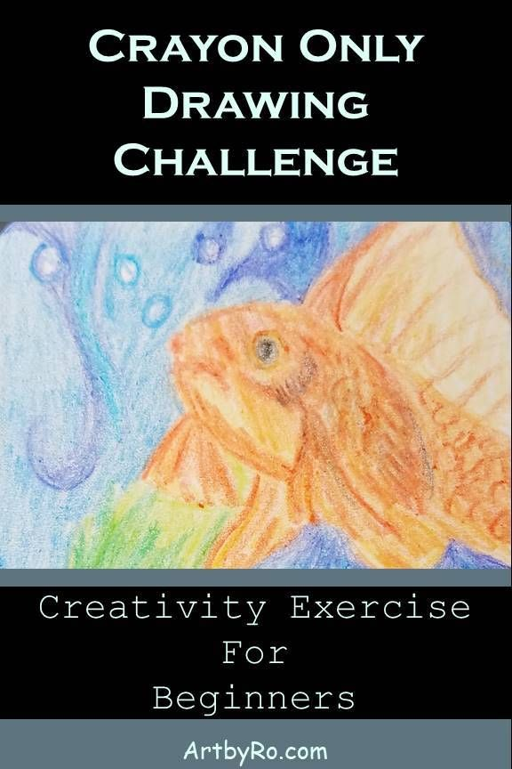 Want to improve your creativity as an artist? Try the crayon only drawing challenge. Create 7 drawings in 7 days using nothing by crayon. #learntodraw #ATCs #crayondrawings #creativity
