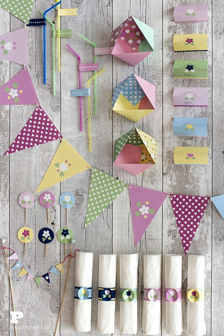 Free Printable Party decorations from Pysselbolaget