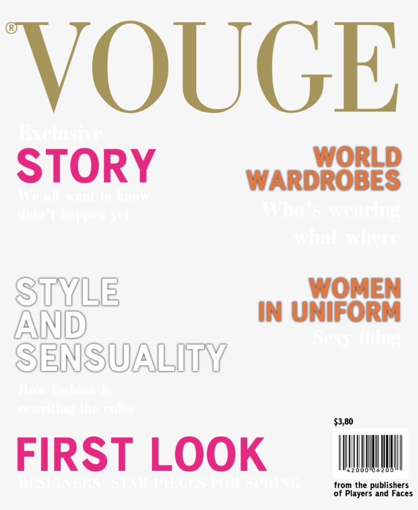 Download Vogue Cover Magazine Png For Free Nicepng Provides Large Related Hd Transparent Png Images Magazine Cover Template Vogue Covers Fake Magazine Covers