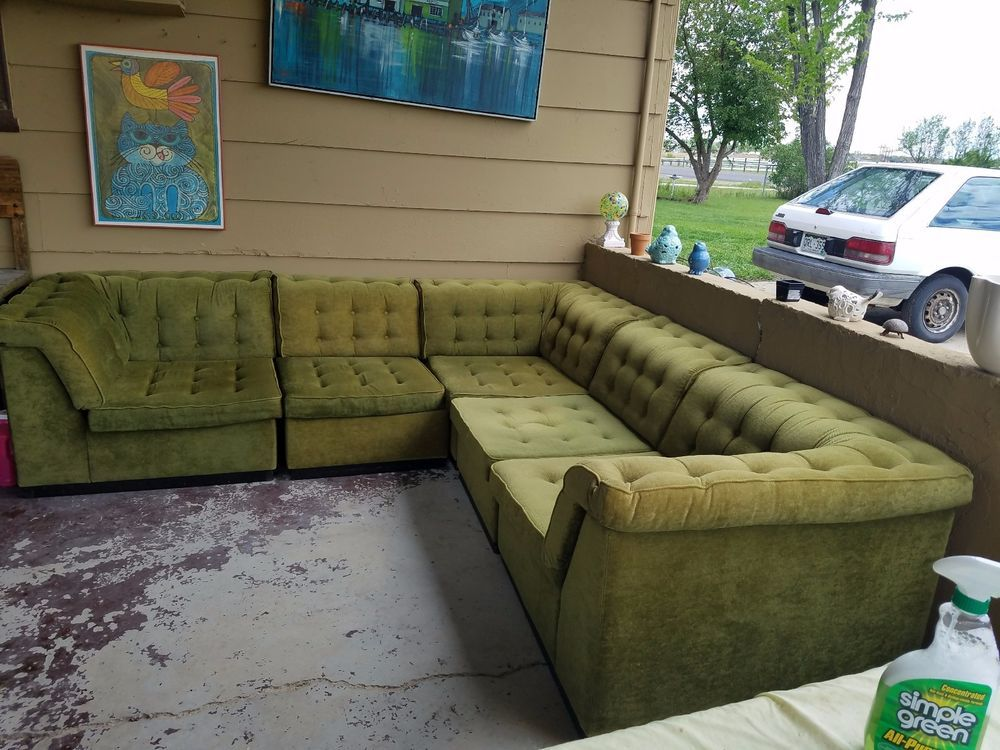 Vintage Green Sectional Sofa Made In Denmark Mid Century Decor Sectional Sofa Sectional Sectional Sleeper Sofa