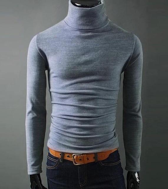 Superior quality Winter High Neck Thick Warm Sweater Men Turtleneck Brand  Mensuotelab 1a711b11d