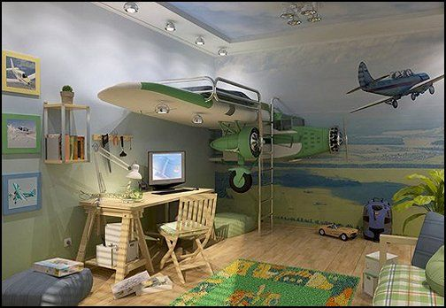 decorating theme bedrooms - maries manor: airplane theme bedroom