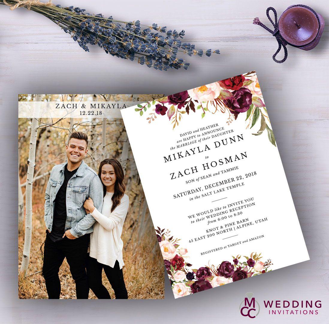 Wedding Invitation With Photo Wedding Invitations With Pictures Cheap Wedding Invitations Simple Wedding Invitations Cheap