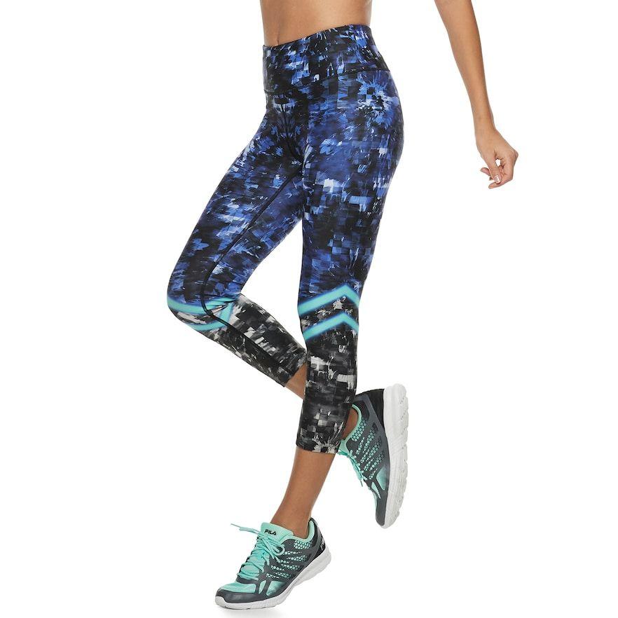 1192206909fb5f Women's FILA Sport® Printed High-Waisted Capri Leggings, Size: Medium, Blue