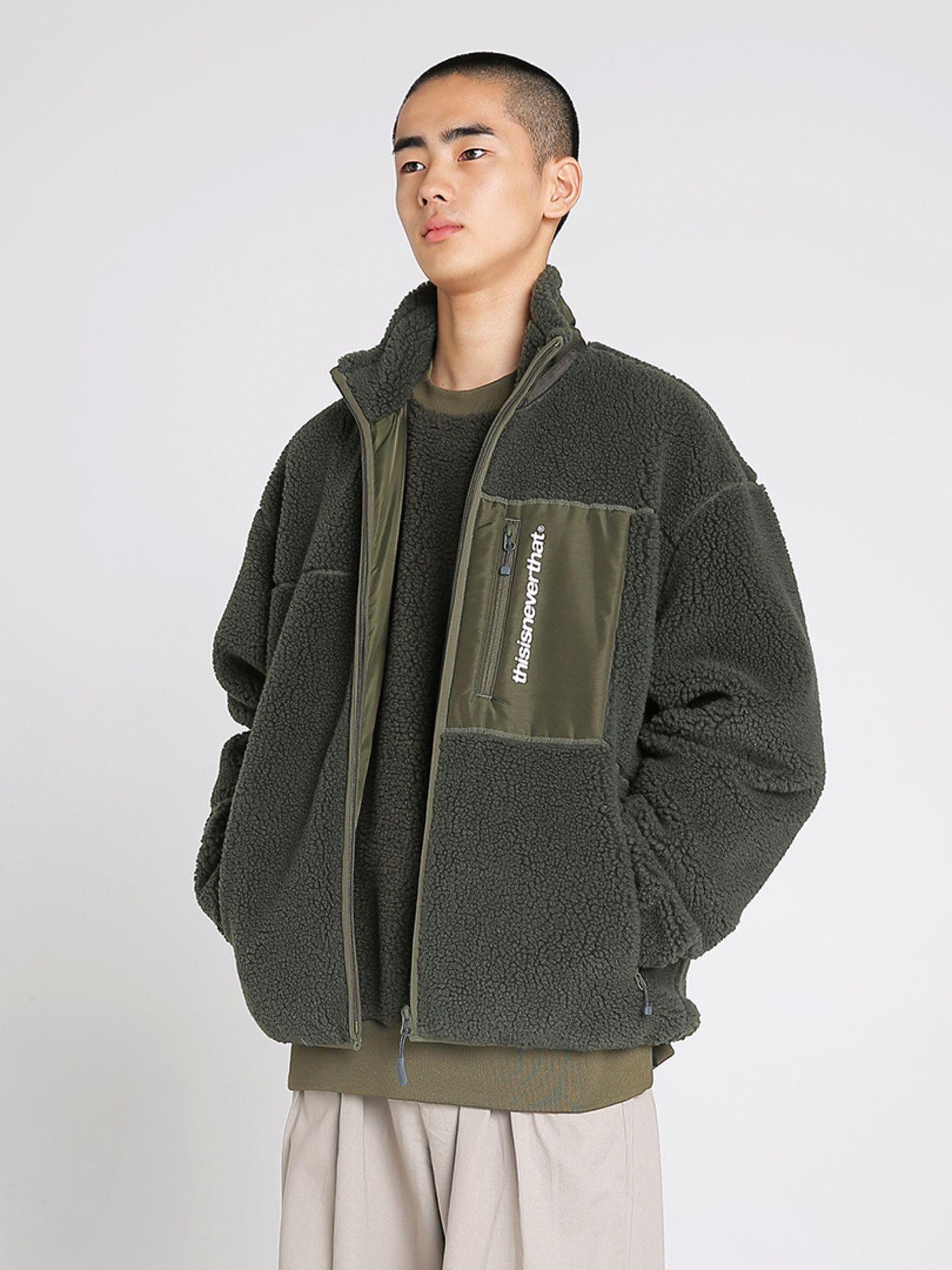 SP Boa Fleece Jacket Olive Mens fleece jacket, Jackets