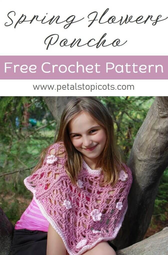 Spring Flowers Poncho Crochet Pattern ... Three Sizes | Ponchos etc ...