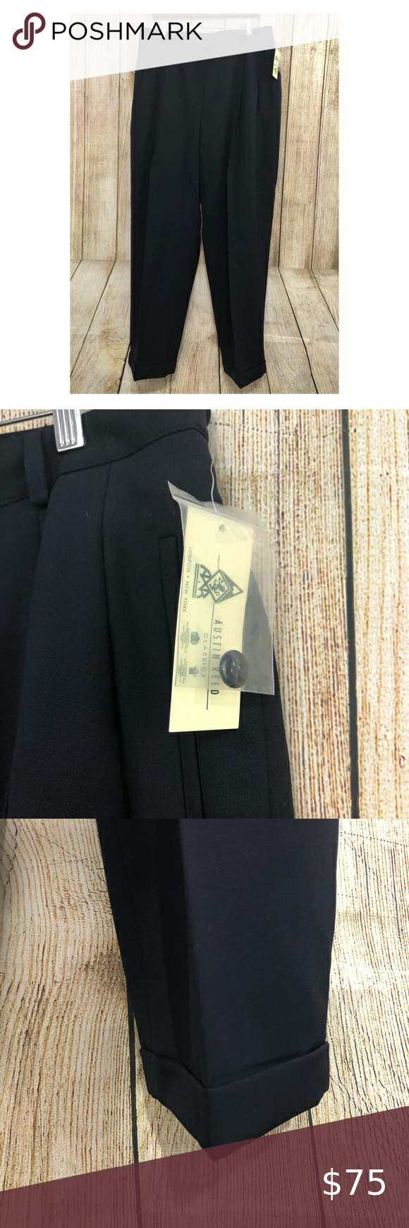 Austin Reed Classic Dress Pants 20w Navy Blue Nwt Dress Pants Womens Dress Pants Classic Dress