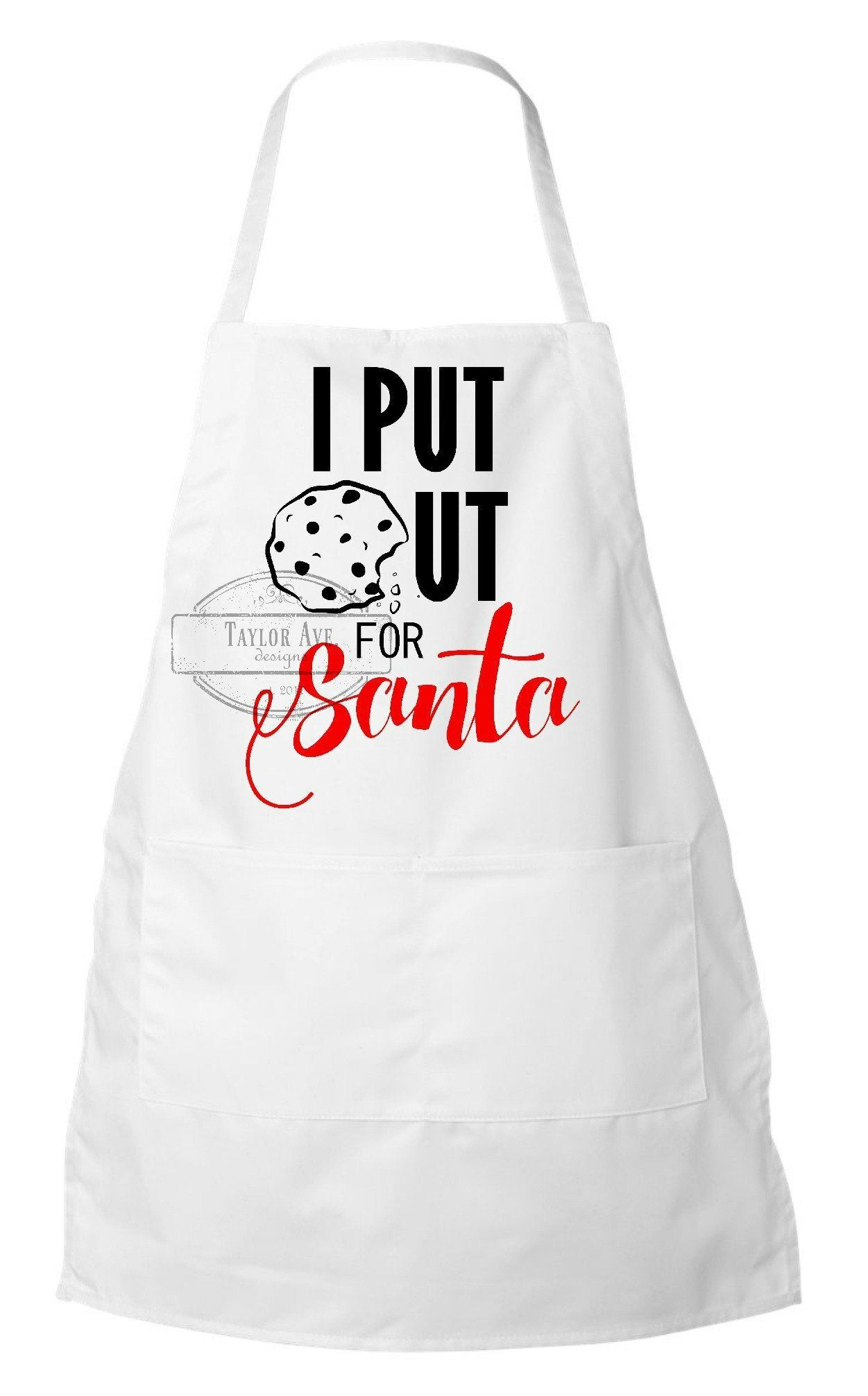 I Put Out For Santa Apron. Holiday Cooking Apron. Funny ...