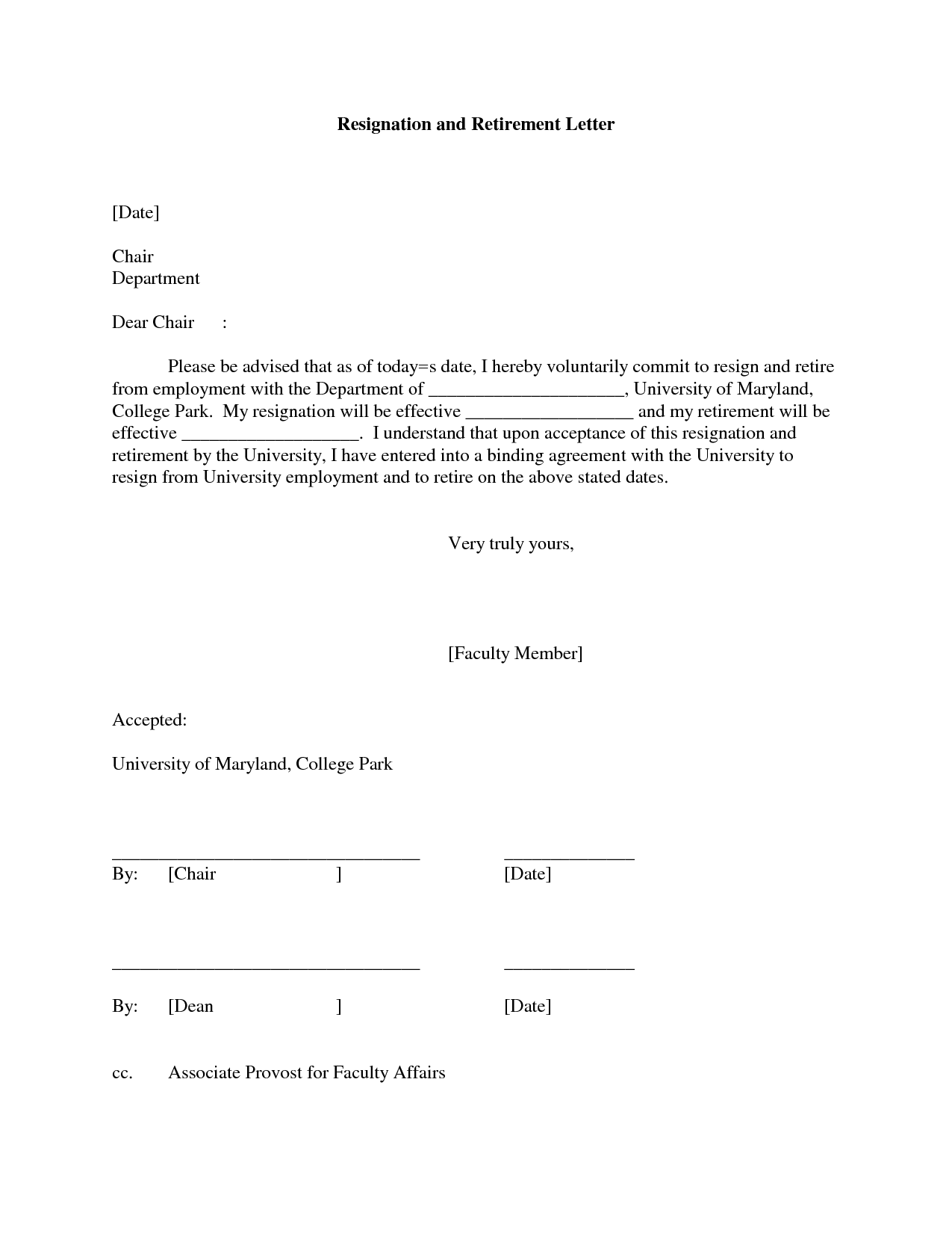 Great Resignation Letter Format, Shocking Examples Retirement Letter Of  Resignation Accepted Vacation Formal Teacher Ideas Stunning Pertaining To Retirement Resignation Letter
