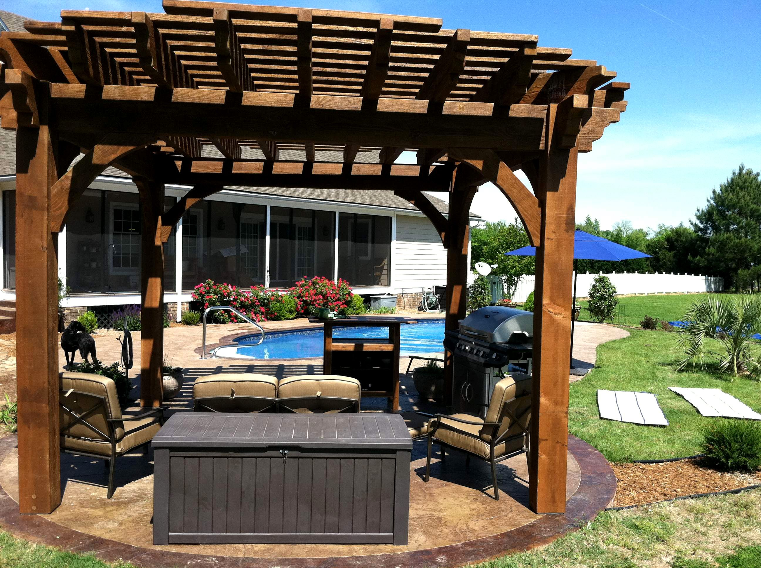 Round Wooden Pergolas Pictures   Google Search