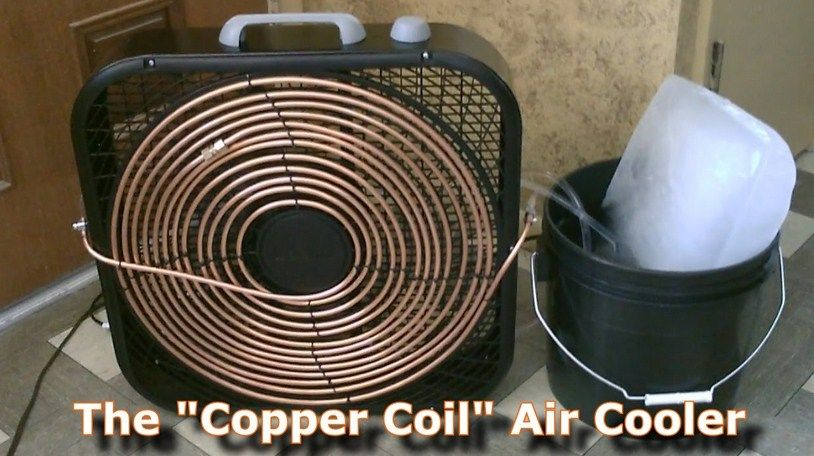 Homemade Ac The Quot Copper Coil Quot Air Cooler Building Diy