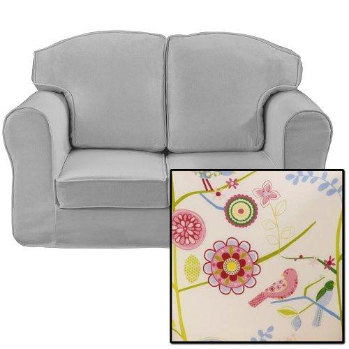 Just4Kidz Loose Cover Sofa in Song Bird