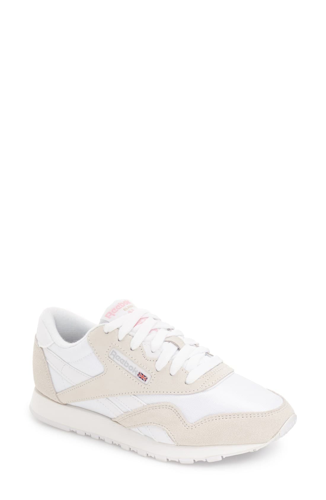Reebok Classic Nylon Trainers In White And Grey Women
