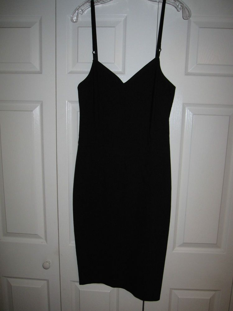 Dolce & Gabbana D&G Dress Black lingerie bodycon pinup IT30 Europe 44 Authentic #DolceGabbana #StretchBodycon #Cocktail