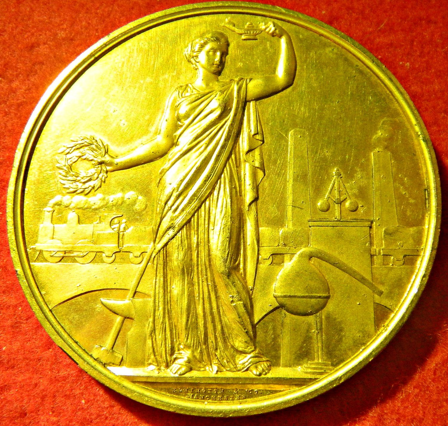 The Society For The Promotion Of Scientific Industry Was Formed In Manchester In 1873 In 1874 The Exhibition Of Appliances For The Eco Medals Society Gilded
