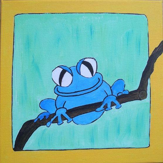 blue frog www.verfbeesies.nl