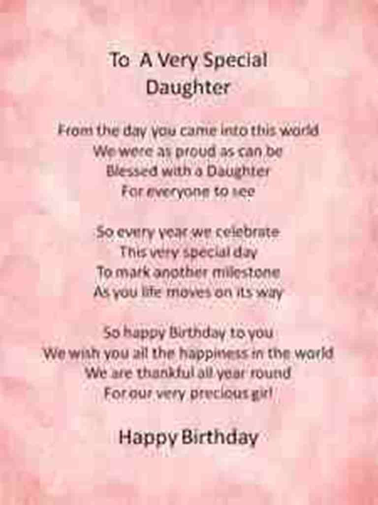 Birthday Wish Poem For Daughter
