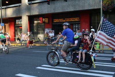 diy flag pole holder | Bicycle Birthday Party | Flag pole