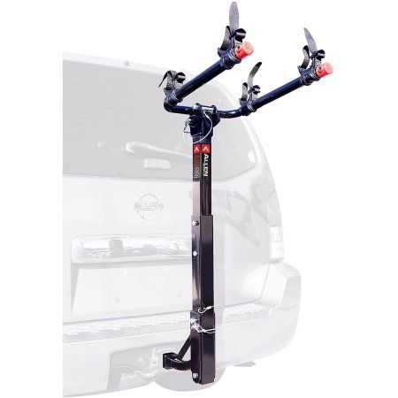 Allen Sports Deluxe 2 Bicycle Hitch Mounted Bike Rack Carrier 522rr Walmart Com Hitch Mount Bike Rack Bike Rack Bike Hitch