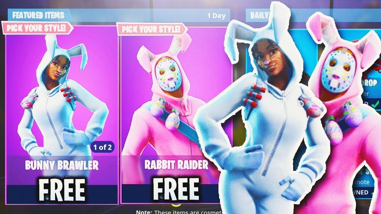 New Easter Skins Update In Fortnite Rabbit Raider Bunny Brawler