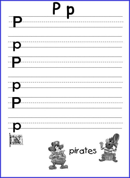 P Is For Pirate Worksheets | Preschool Activities | Pinterest