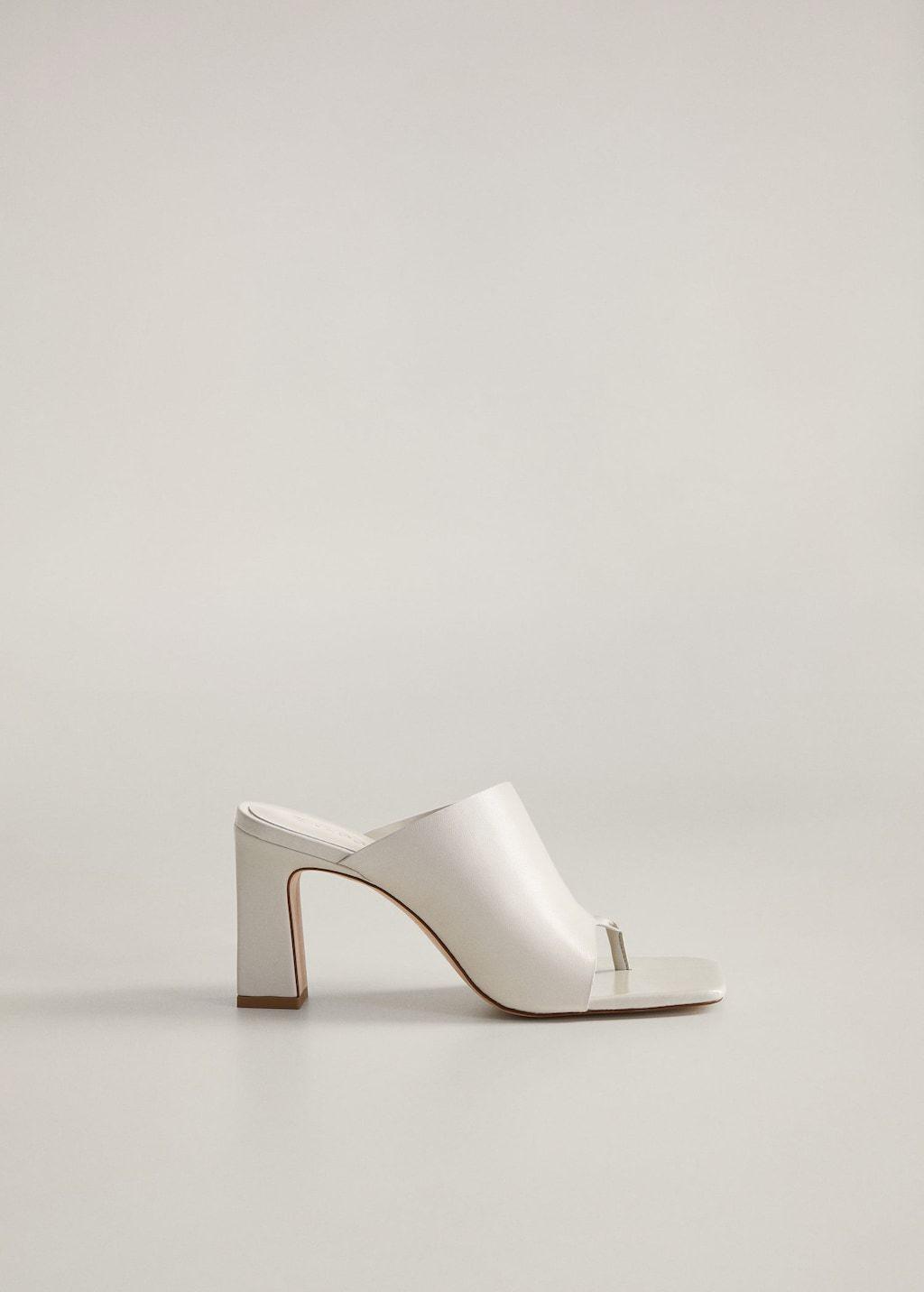 Asymmetric leather sandals - Women