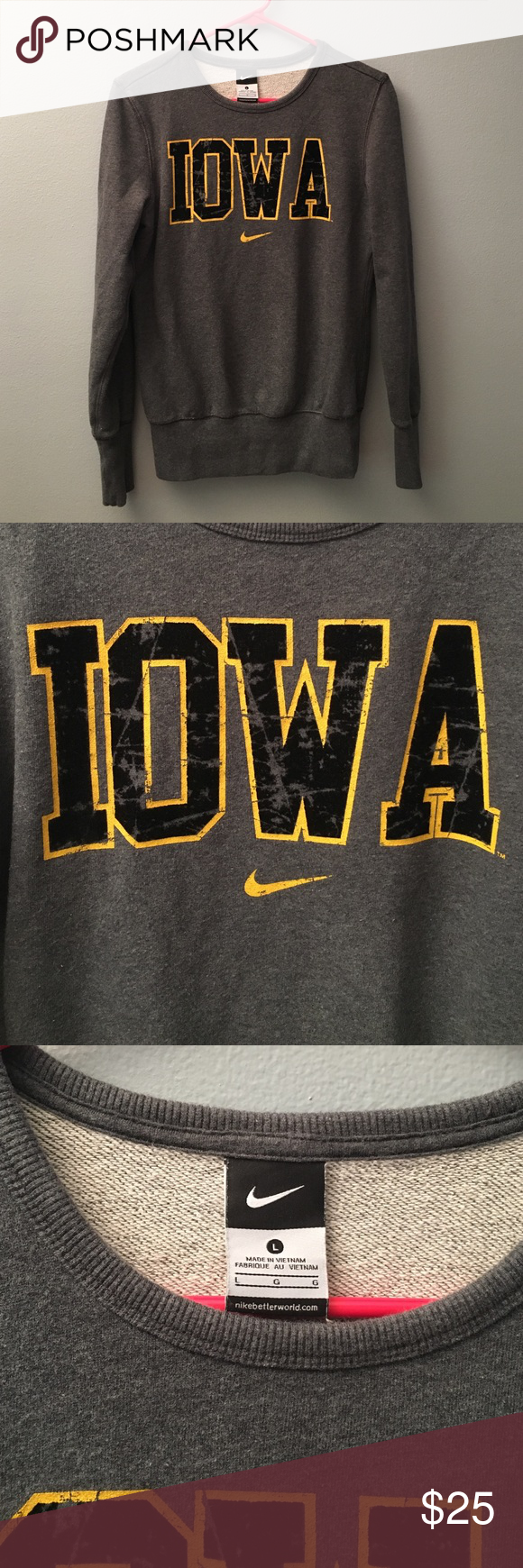 Iowa Hawkeyes Sweatshirt Sweatshirts Iowa Hawkeyes Iowa [ 1740 x 580 Pixel ]