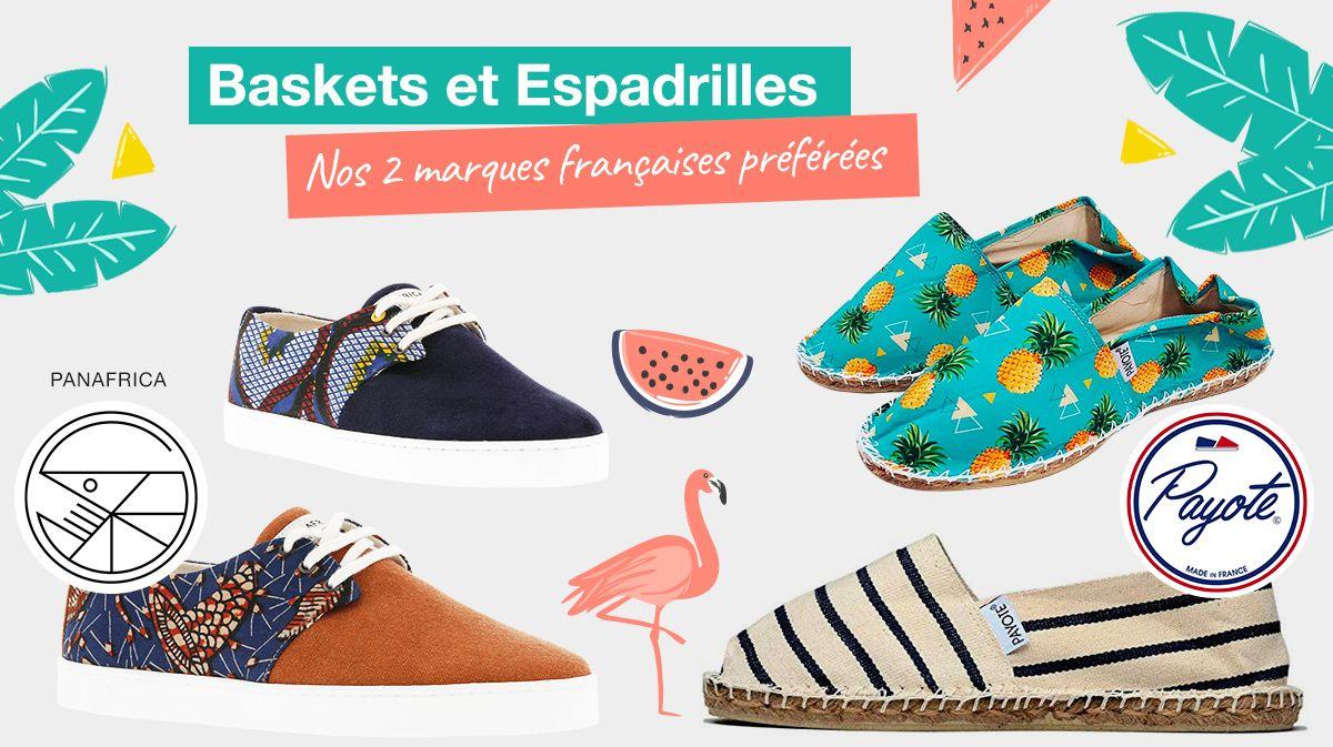 3421a62eddfd3 21 Espadrilles et Baskets Tendances : Les Marques Françaises de l'Eté.  Chaussures d'été pour homme et femme.