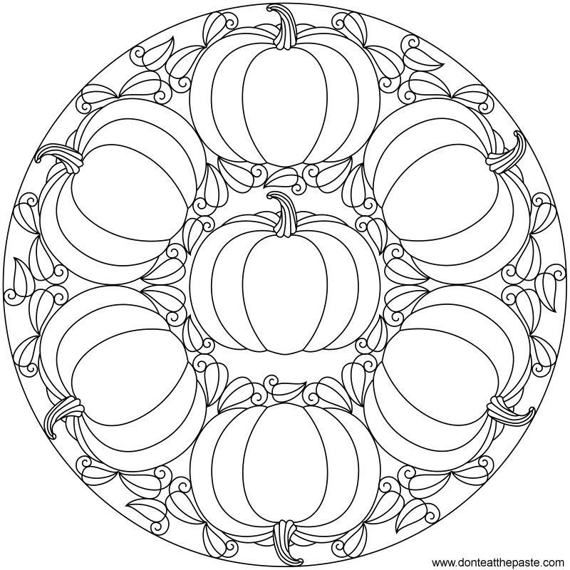 7 Sections Of Halloween Coloring Pages Mandala Day Of The Dead Herbst Ausmalvorlagen Kurbis Malvorlage Mandalas Kinder