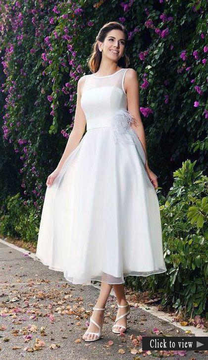 45 Amazing Short Wedding Dress For Vow Renewal Online Wedding Dress Ankle Length Wedding Dress Short Bridal Dress
