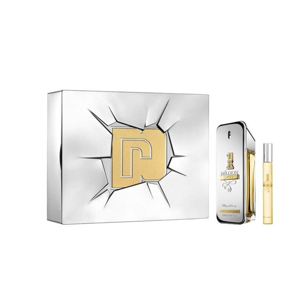Paco Rabanne 1 Million Lucky Eau De Toilette Men S Gift Set Spray 100ml With 10ml Edt Men Perfume Perfume Set Eau De Toilette