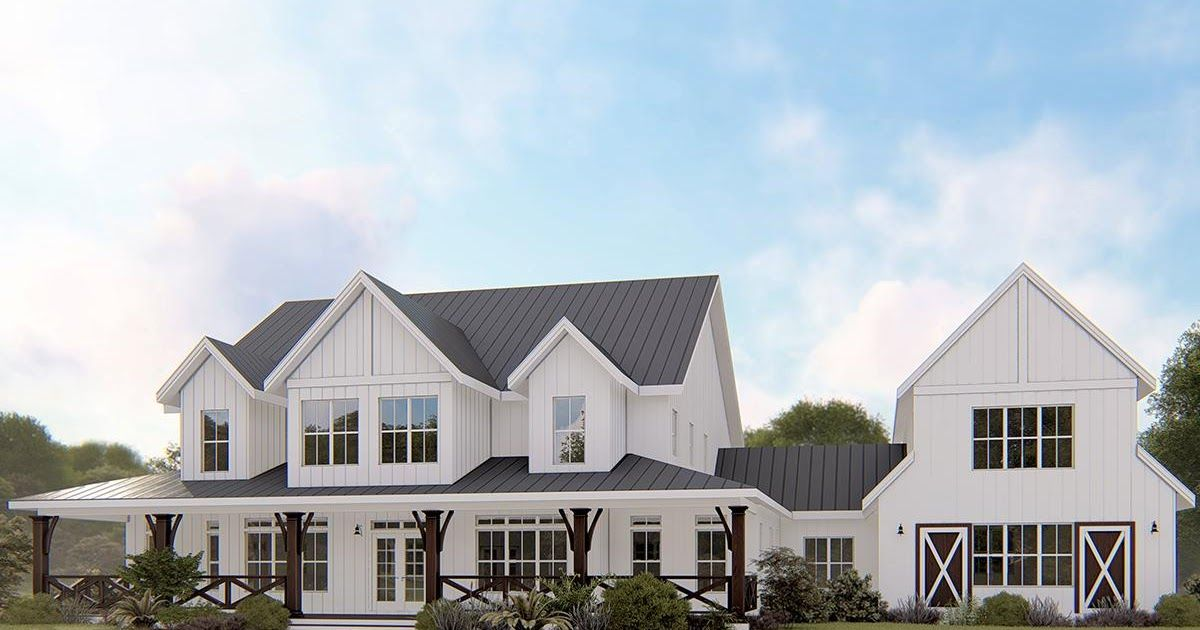 Modern House Plans For 6000 Sq Ft At More Than 5000 Square Feet These Plans Have Plenty Of Room Modern House Plans Luxury House Plans Contemporary House Plans
