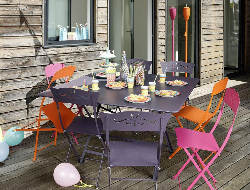 Table Cargo Table De Jardin Table Jardin 8 Personnes Outdoor Dining Spaces Metal Outdoor Furniture Fermob