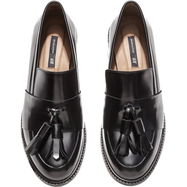 31f789110763 H M Leather loafers (2.335 RUB) ❤ liked on Polyvore featuring shoes,  loafers, h m shoes, leather loafer shoes, leather shoes, tassel loafers and  loafers ...