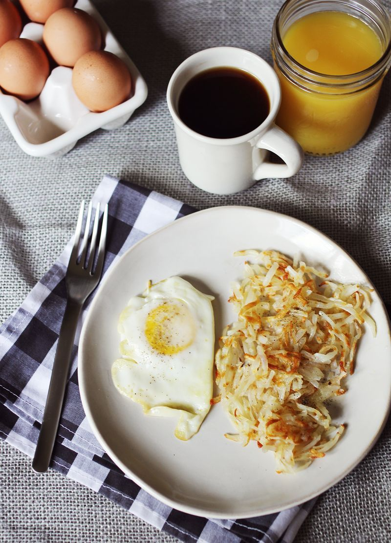 Waffle Iron Hash Browns - made these last night. I loved how crispy the hash browns turned out. I will definitely cook my hash browns this way from now on. By the way, I thawed my hash browns and squeezed out the extra water first.