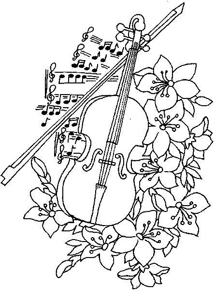 Novos Riscos De Flores Desenho De Violino Riscos