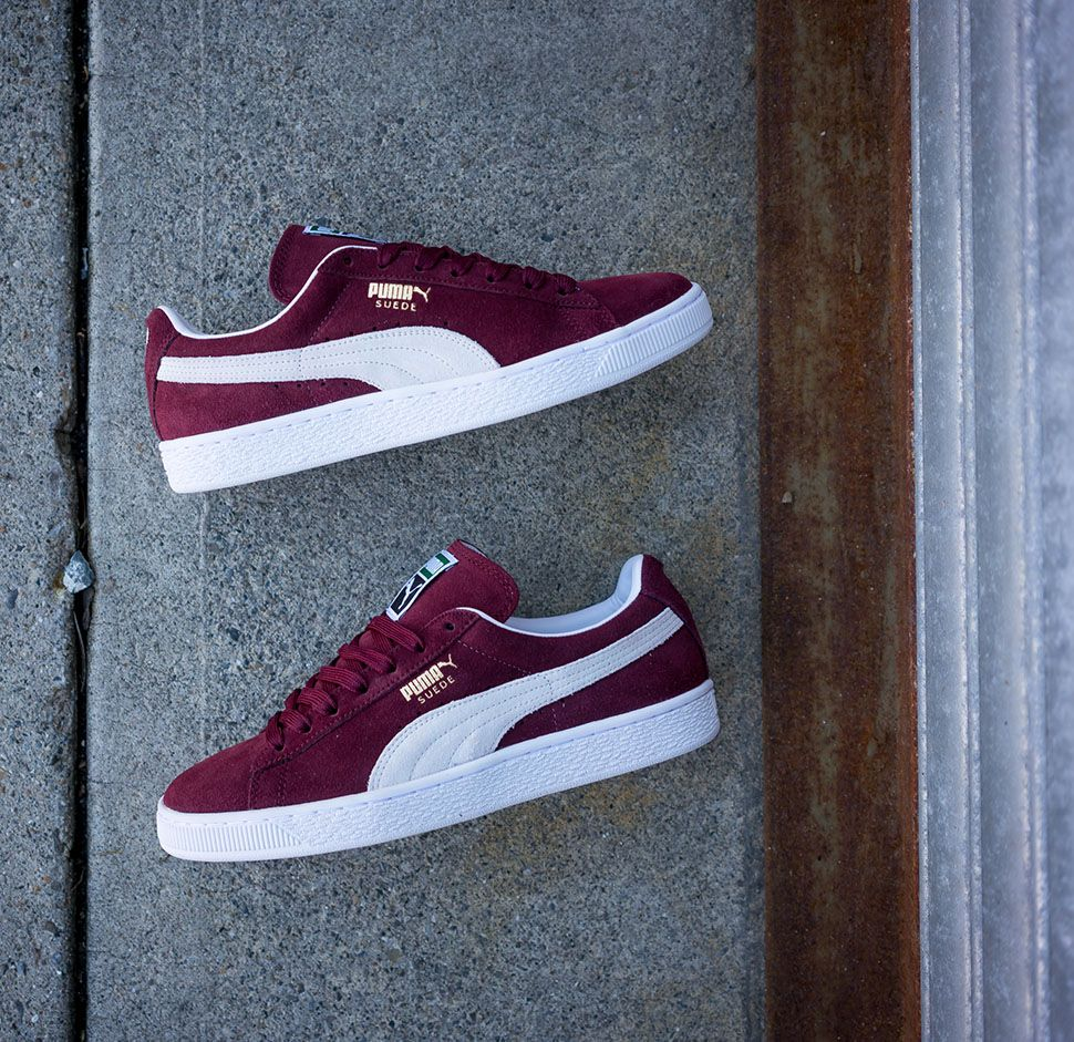 f98d491204044b This Burgundy Colorway Of The PUMA Suede Classic Is Flawless •  KicksOnFire.com