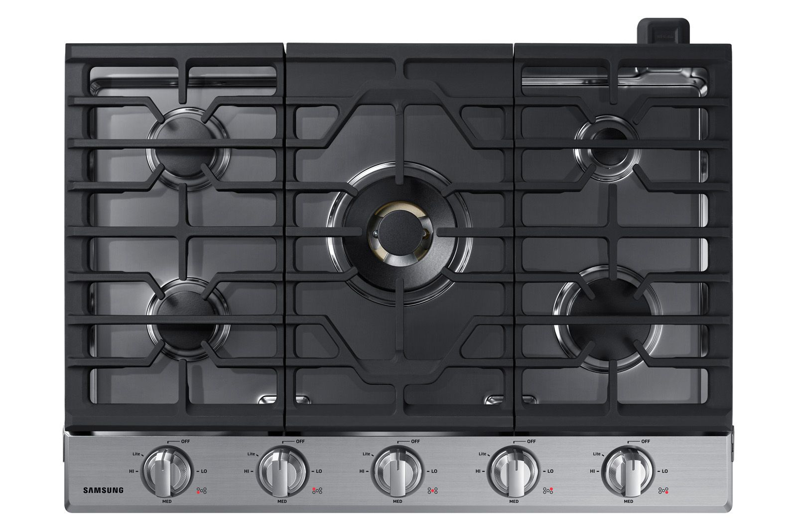 30 Inch Gas Cooktop With 22k Btu Dual Power Burner In Stainless Steel Cooktop Na30n7755ts Aa Samsung Us Gas Cooktop Cooktop Stainless Steel Cooktop