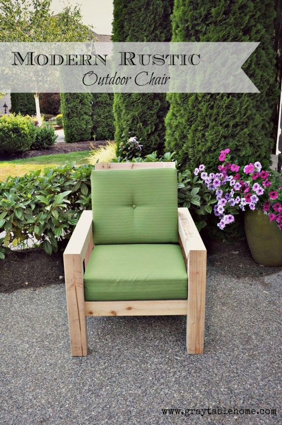DIY Modern Rustic Outdoor Chair - Gray Table Home | backyard ...