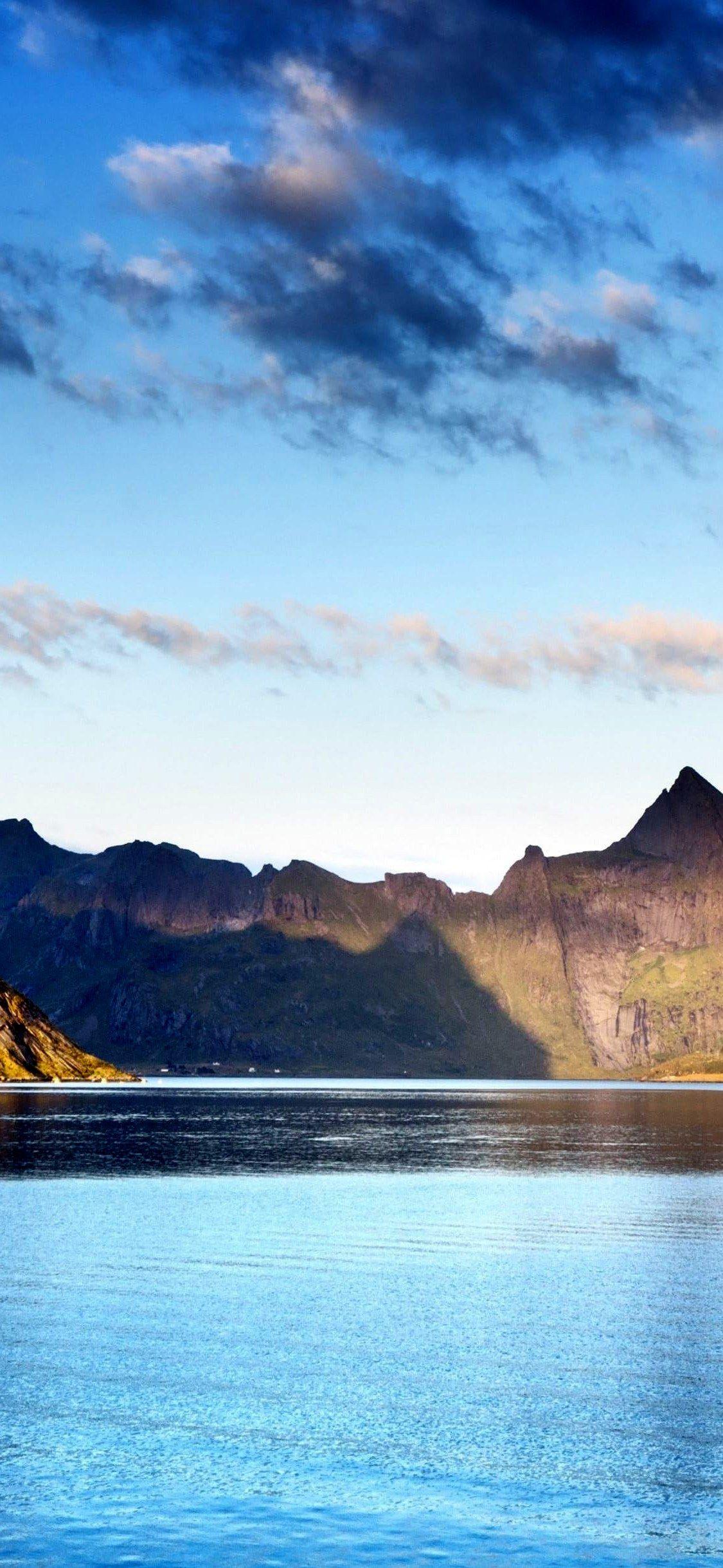 Norway Lofoten Islands Mountains Sea Wallpaper Iphone X Wallpaper