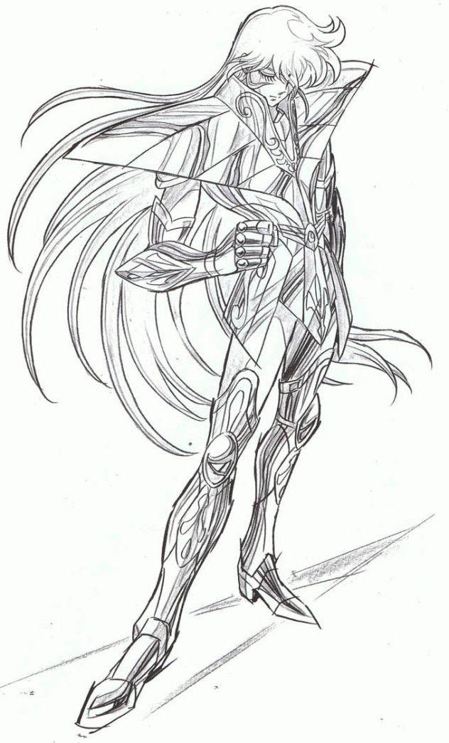 desenhos para colorir cavaleiros do zodiaco virgem | Saint Seiya ...